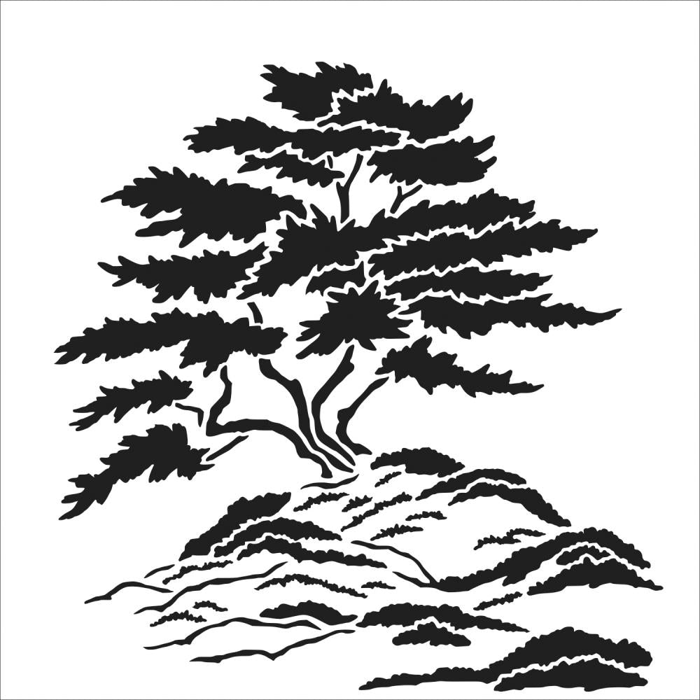 Crafter's Workshop 6x6 Template - Cypress Tree