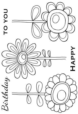 Woodware Clear Magic Singles Stamps - Daisy Bunch