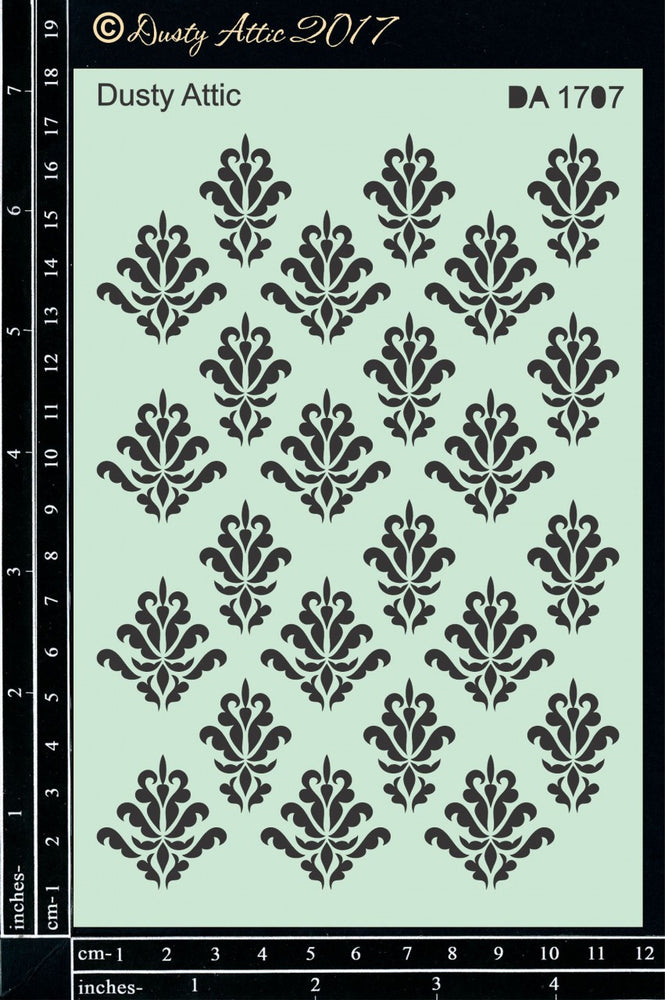 Dusty Attic Stencil - Damask #2