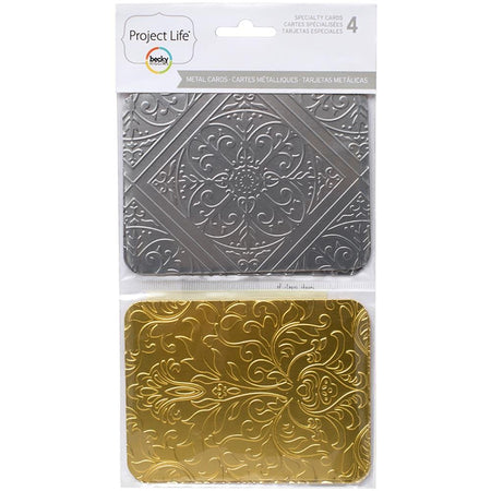 Project Life Speciality Cards - 3x4 Metal Embossed
