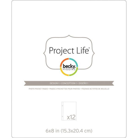 Project Life 6x8 Photo Pocket Pages - Design 1