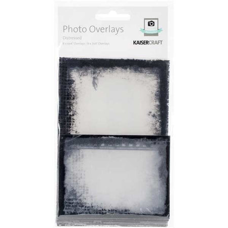 Kaisercraft Photo Overlays - Distressed (Black)
