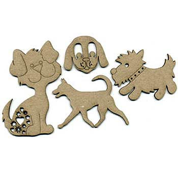 Scrap FX Chipboard - Dog Set