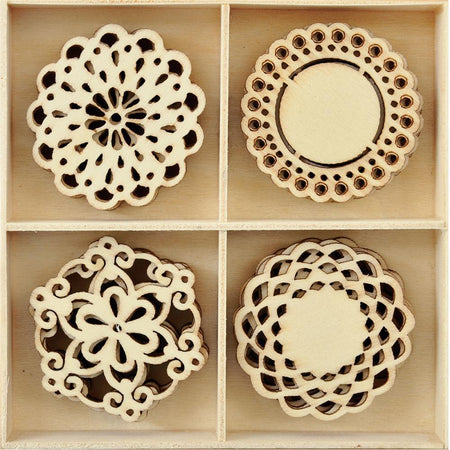 Kaisercraft Wooden Flourish Pack - Doilies