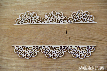 Scrapiniec Chipboard - 3551 Doily Lace Borders 03