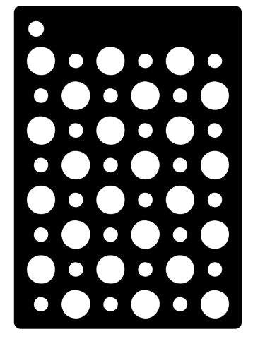 Creative Expressions Mini Stencil - Double Dots