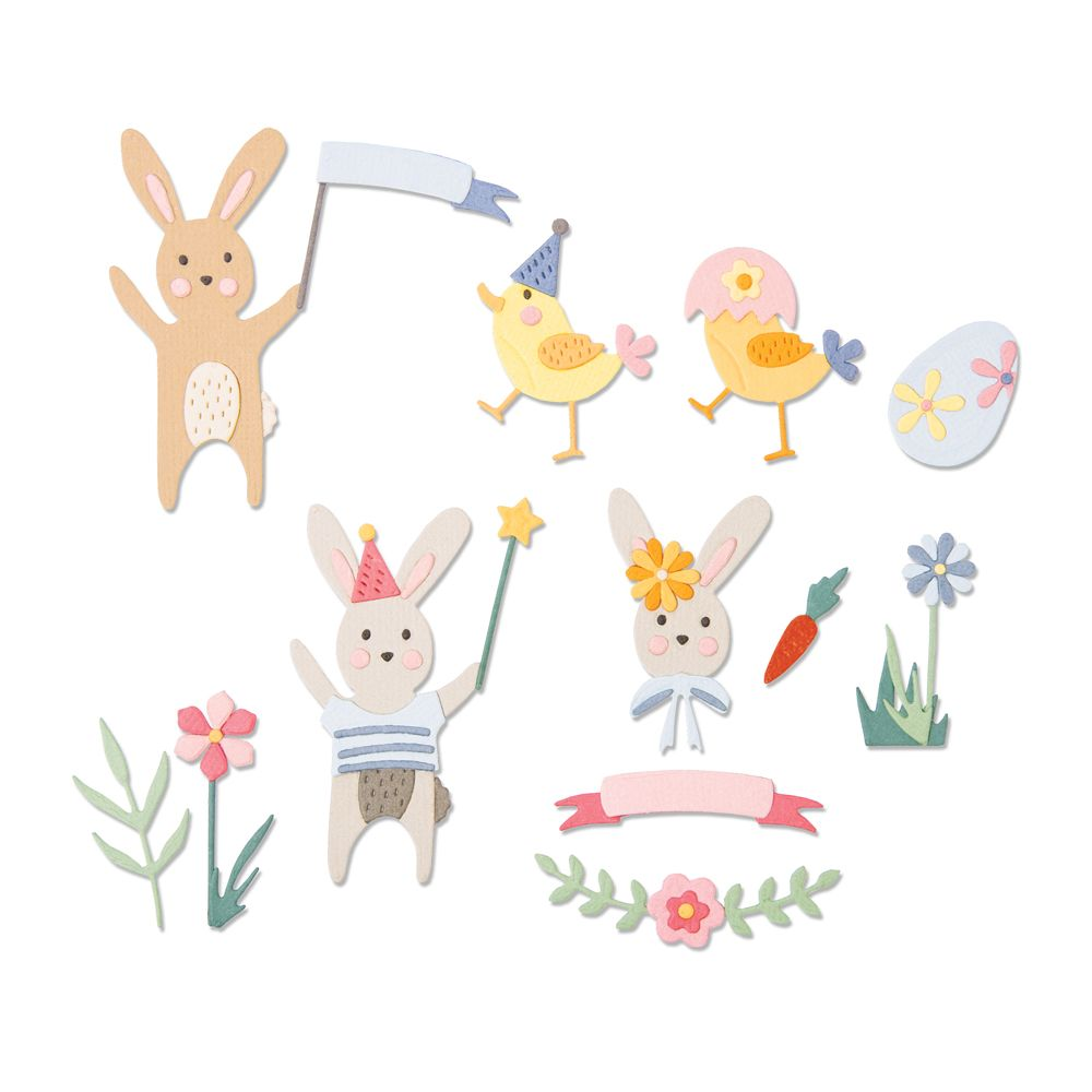 Sizzix Thinlits Die - Easter Celebration