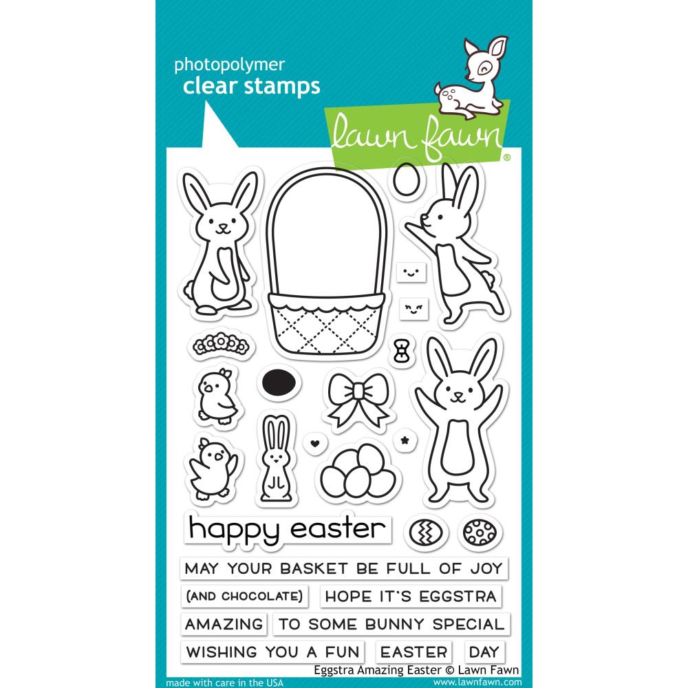 Lawn Fawn Clear Stamps - Eggstra Amazing Easter