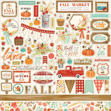 Carta Bella Fall Market - Element Stickers