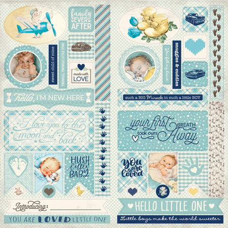 Authentique Swaddle Boy - Die-Cut Sheet
