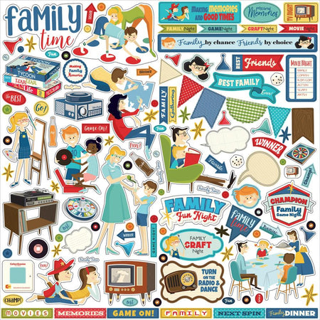 Carta Bella Family Night - Element Stickers