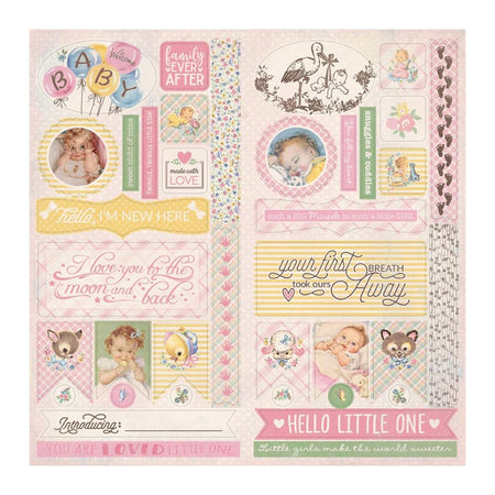 Authentique Swaddle Girl - Die-Cut Sheet