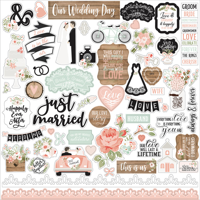 Echo Park Our Wedding - Element Stickers