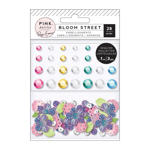 Pink Paislee Paige Evans Bloom Street - Mixed Embellishments