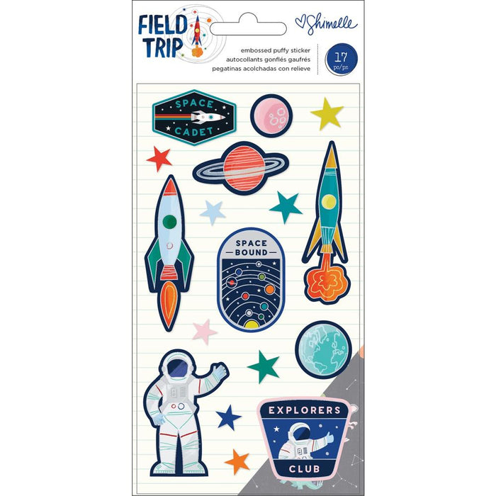 American Crafts Shimelle Field Trip - Embossed Puffy Stickers