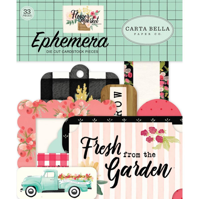 Carta Bella Flower Market - Ephemera