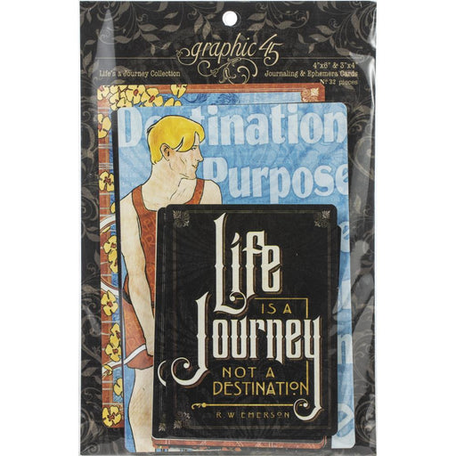 Graphic 45 Life's A Journey - Journaling & Ephemera Cards