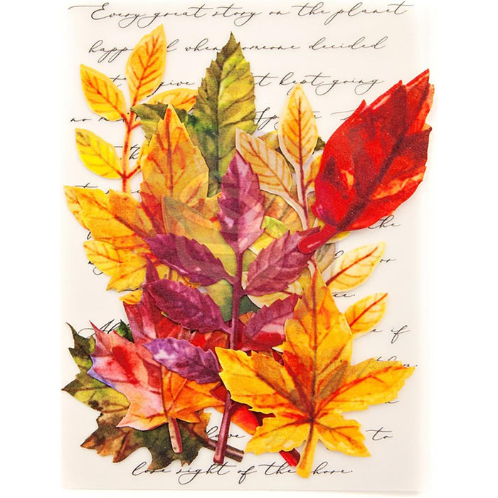 Prima Printed Fabric Leaves - Fall Solstice