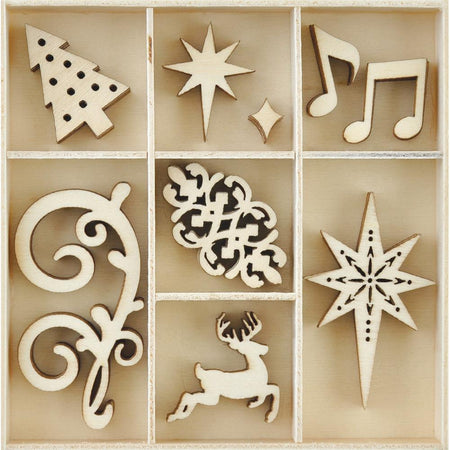 Kaisercraft Wooden Flourish Pack - Fancy Christmas