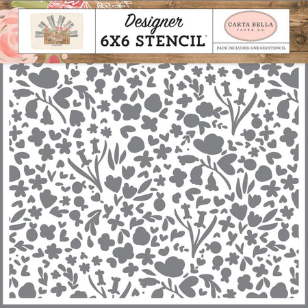 Carta Bella Farmhouse Market - Garden Bloom Stencil