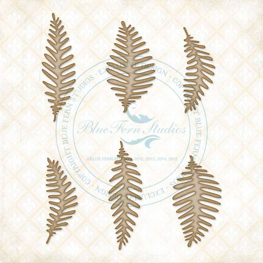 Blue Fern Studios Chipboard - Fern Leaves