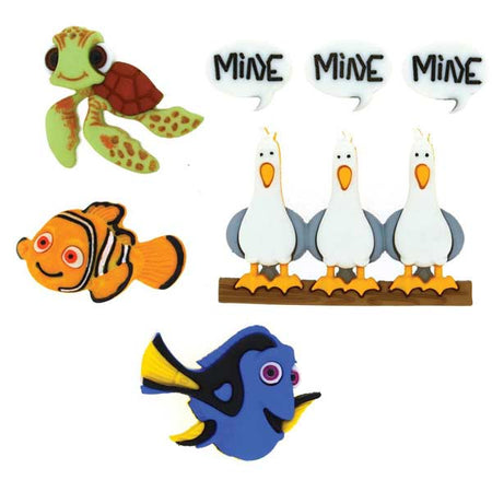 Dress It Up Buttons - Disney Finding Nemo
