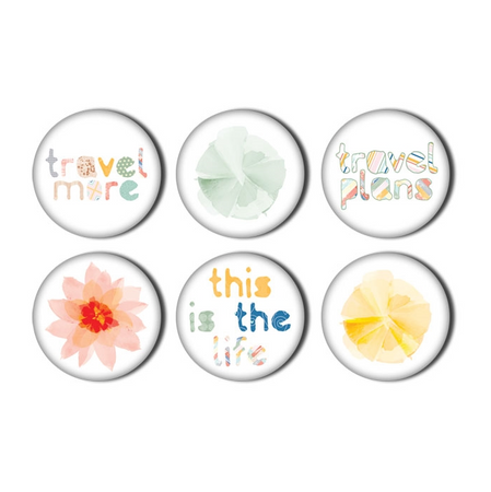 Pretty Little Studio Wish You Were Here - Happy Place Flair Buttons
