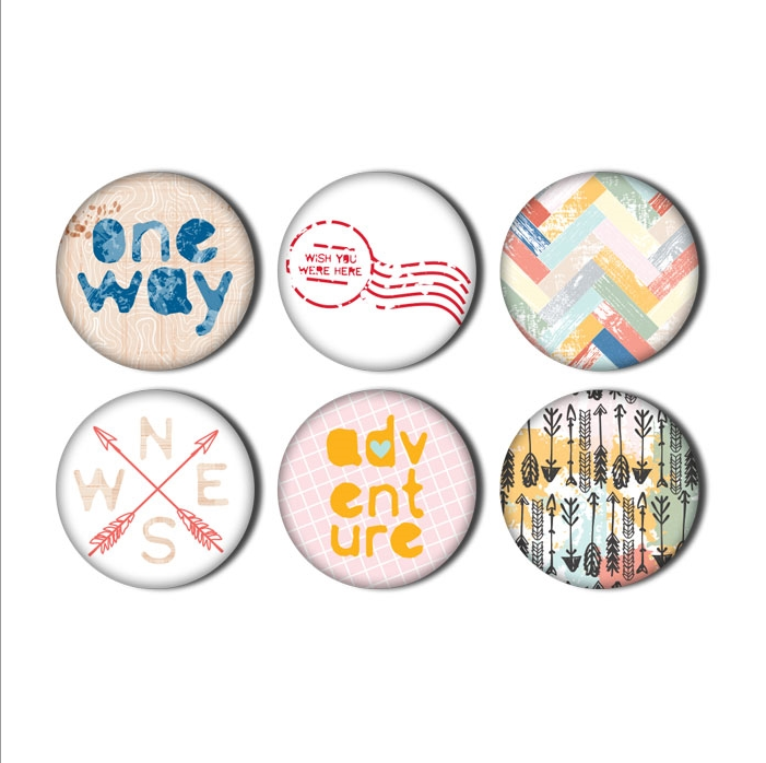 Pretty Little Studio Wish You Were Here - One Way Flair Buttons