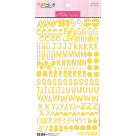 Bella Blvd Florence Alphabet Stickers - Bell Pepper