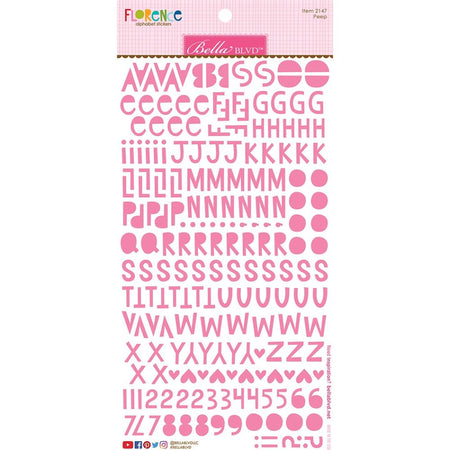 Bella Blvd Florence Alphabet Stickers - Peep