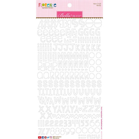 Bella Blvd Florence Alphabet Stickers - White