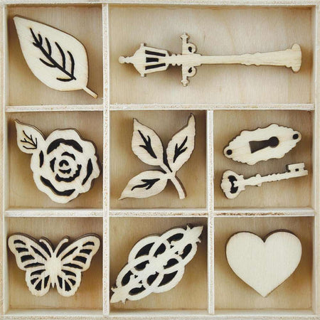 Kaisercraft Wooden Flourish Pack - Garden