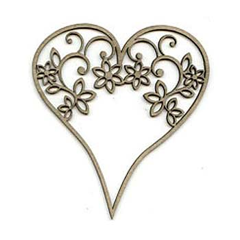 Scrap FX Chipboard - Flourish Heart
