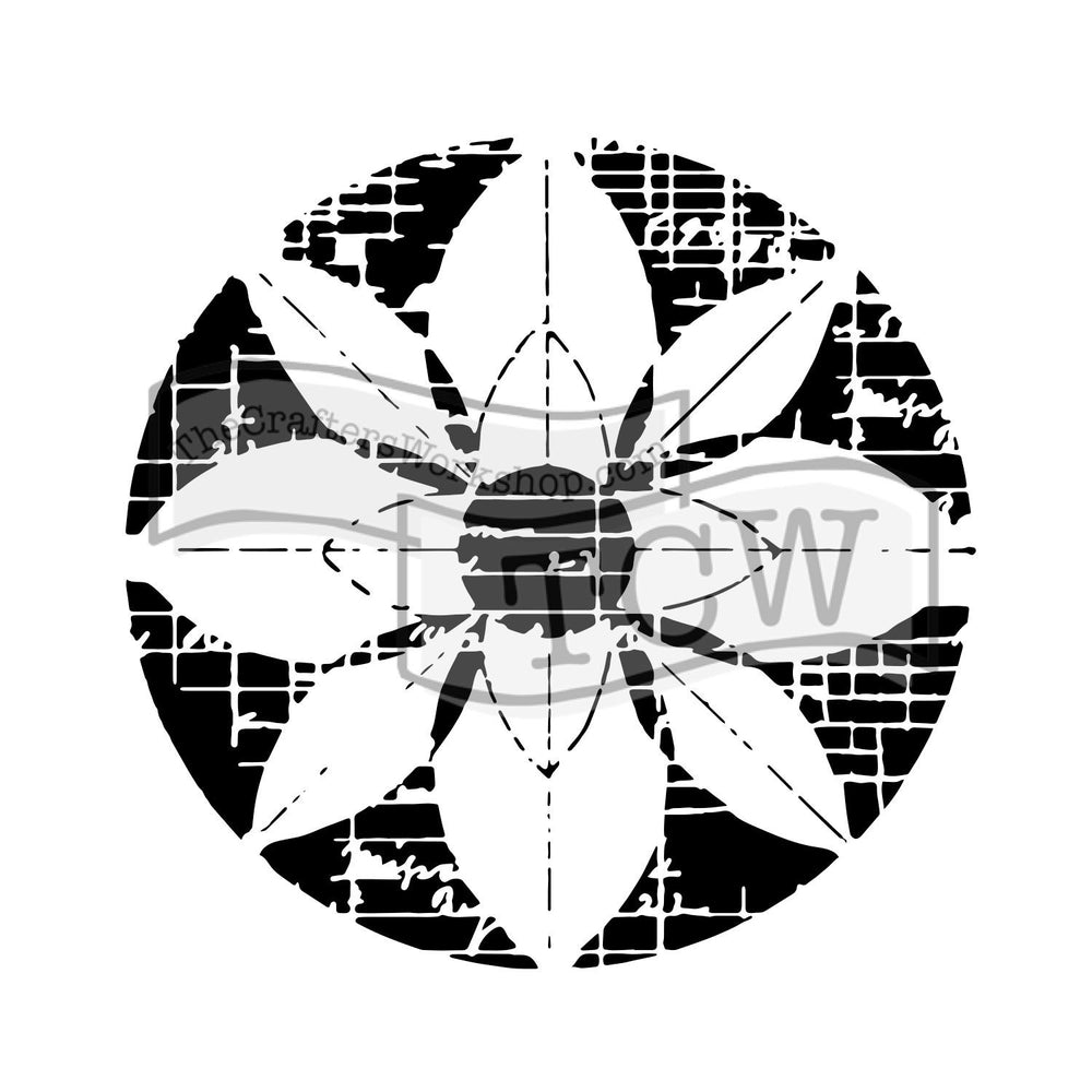 Crafter's Workshop 6x6 Template - Flower Grid