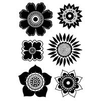 Woodware Clear Magic Singles Stamps - Flower Head Selection