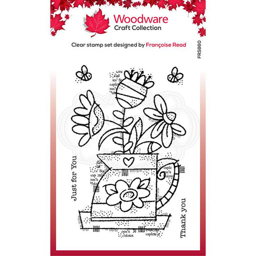 Woodware Clear Magic Singles Stamp - Flower Jug