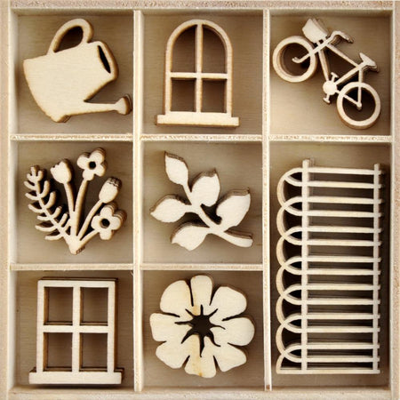 Kaisercraft Flower Shoppe - Wooden Flourish Pack