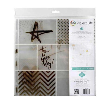 Project Life Page Protectors - Heidi Swapp Gold Foil