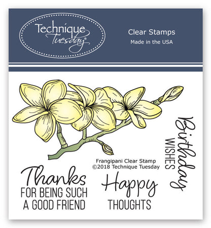 Technique Tuesday Clear Stamps - Frangipani