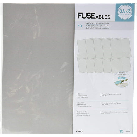 We R Memory Keepers - Fuseables Clear Sheets