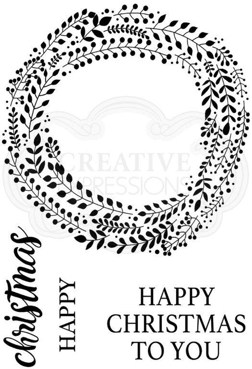 Woodware Clear Magic Singles Stamp - Garland