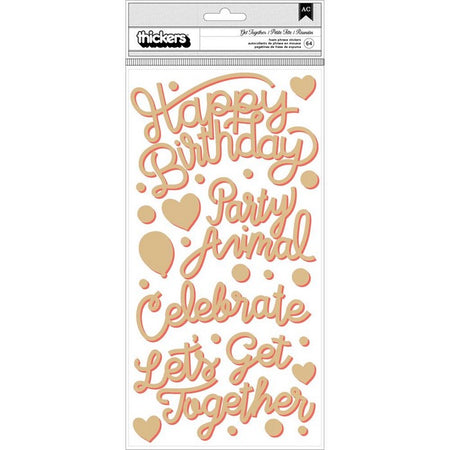 Pink Paislee Confetti Wishes - Get Together Foam Thickers