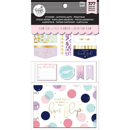 Me & My Big Ideas Happy Planner Note Cards/Stickers- Glam Girl