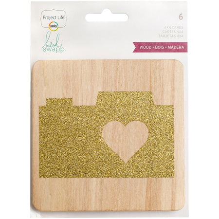 Project Life Heidi Swapp - 4x4 Glittered Wood Veneer Cards