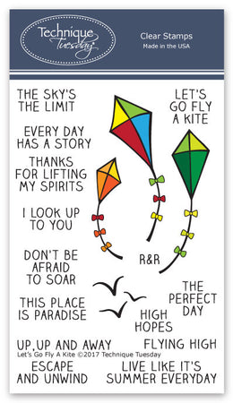 Technique Tuesday Clear Stamps - Go Fly a Kite