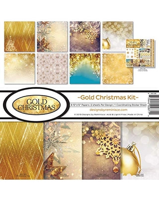 Reminisce Gold Christmas - Collection Kit