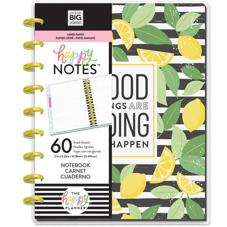 Me & My Big Ideas Happy Notes - Good Things Classic Notebook (Lined)