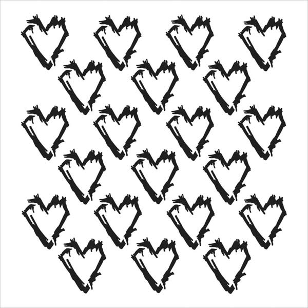 Crafter's Workshop 6x6 Template - Grunge Hearts