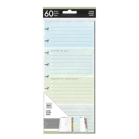 Me & My Big Ideas Happy Planner - Half Sheet Fill Paper Homebody