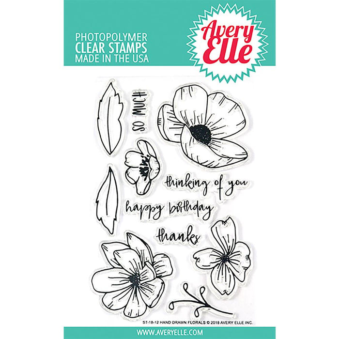 Avery Elle Clear Stamps - Hand Drawn Florals